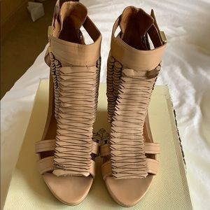 Rachel Roy nude sandals; excellent condition